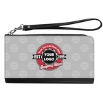 Logo & Tag Line Genuine Leather Smartphone Wrist Wallet (Personalized)