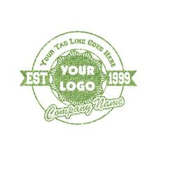Logo & Tag Line Glitter Iron On Transfer- Custom Sized (Personalized)