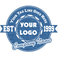 Logo & Tag Line Glitter Sticker Decal - Custom Sized (Personalized)