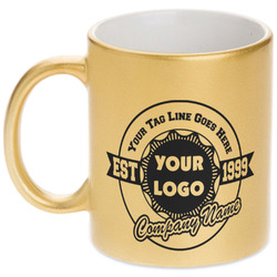 Logo & Tag Line Gold Mug (Personalized)