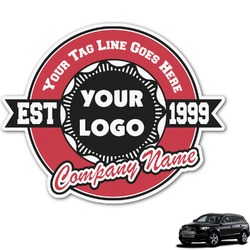 Logo & Tag Line Graphic Car Decal (Personalized)