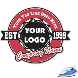 Logo & Tag Line Graphic Iron On Transfer (Personalized)