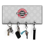 Logo & Tag Line Key Hanger w/ 4 Hooks w/ Graphics and Text