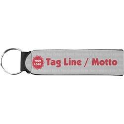 Logo & Tag Line Neoprene Keychain Fob (Personalized)