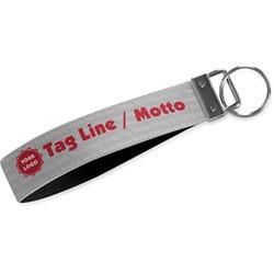 Logo & Tag Line Wristlet Webbing Keychain Fob (Personalized)