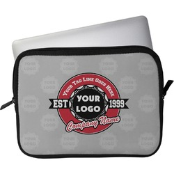 "Logo & Tag Line Laptop Sleeve / Case - 13"" (Personalized)"