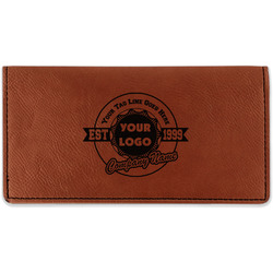 Logo & Tag Line Leatherette Checkbook Holder (Personalized)
