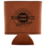 Logo & Tag Line Leatherette Can Sleeve (Personalized)