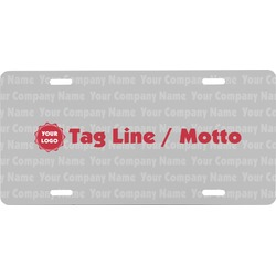 Logo & Tag Line Front License Plate (Personalized)