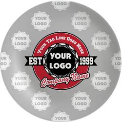 "Logo & Tag Line Melamine Plate - 8"" (Personalized)"