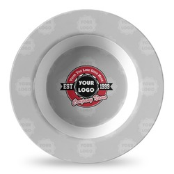 Logo & Tag Line Plastic Bowl - Microwave Safe - Composite Polymer (Personalized)