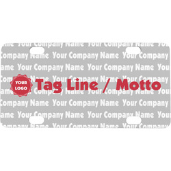 Logo & Tag Line Mini / Bicycle License Plate (Personalized)