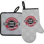 Logo & Tag Line Oven Mitt & Pot Holder (Personalized)