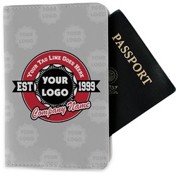 Logo & Tag Line Passport Holder - Fabric (Personalized)