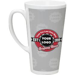 Logo & Tag Line 16 Oz Latte Mug (Personalized)
