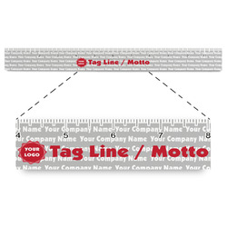 """Logo & Tag Line Plastic Ruler - 12"""" (Personalized)"""