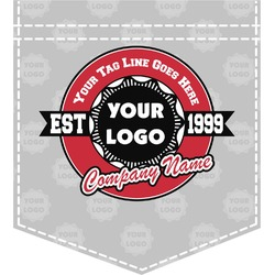 Logo & Tag Line Iron On Faux Pocket (Personalized)