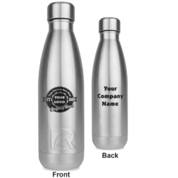 Logo & Tag Line RTIC Bottle - Silver - Engraved Front & Back (Personalized)