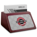 Logo & Tag Line Red Mahogany Business Card Holder (Personalized)