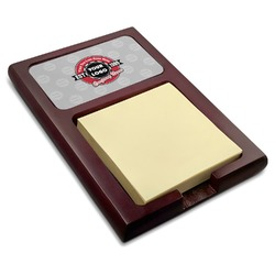 Logo & Tag Line Red Mahogany Sticky Note Holder (Personalized)