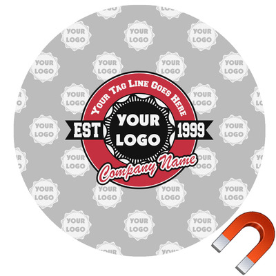 Logo & Tag Line Car Magnet (Personalized)