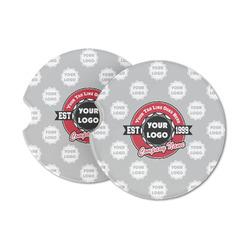 Logo & Tag Line Sandstone Car Coasters (Personalized)