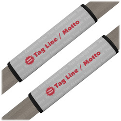 Logo & Tag Line Seat Belt Covers (Set of 2) (Personalized)