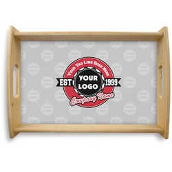 Logo & Tag Line Natural Wooden Tray (Personalized)