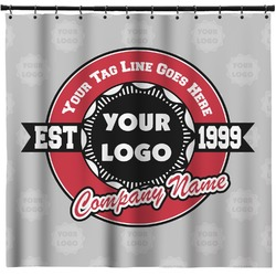 Logo & Tag Line Shower Curtain (Personalized)