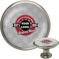 Logo & Tag Line Cabinet Knobs (Personalized)