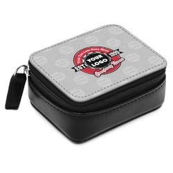 Logo & Tag Line Small Leatherette Travel Pill Case (Personalized)