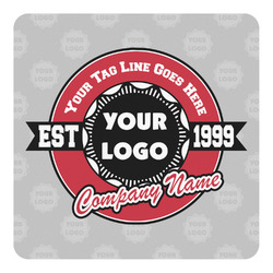 Logo & Tag Line Square Decal (Personalized)