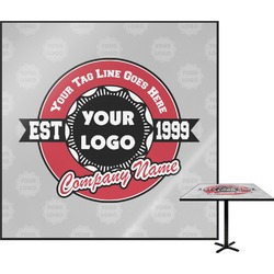 Logo & Tag Line Square Table Top (Personalized)