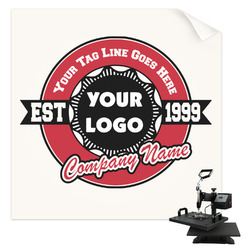 Logo & Tag Line Sublimation Transfer (Personalized)