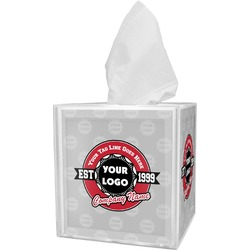 Logo & Tag Line Tissue Box Cover (Personalized)
