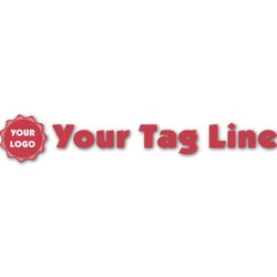 Logo & Tag Line Name/Text Decal - Custom Sized (Personalized)