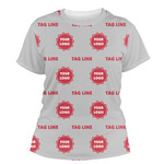 Logo & Tag Line Women's Crew T-Shirt (Personalized)