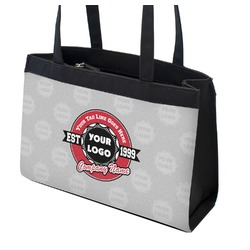 Logo & Tag Line Zippered Everyday Tote (Personalized)