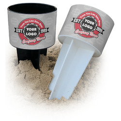 Logo & Tag Line Beach Spiker Drink Holder (Personalized)