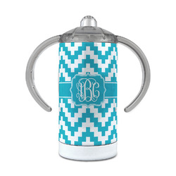 Pixelated Chevron 12 oz Stainless Steel Sippy Cup (Personalized)