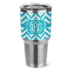 Pixelated Chevron Stainless Steel Tumbler - 30 oz (Personalized)
