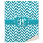 Pixelated Chevron Sherpa Throw Blanket (Personalized)