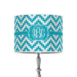 """Pixelated Chevron 8"""" Drum Lamp Shade - Poly-film (Personalized)"""