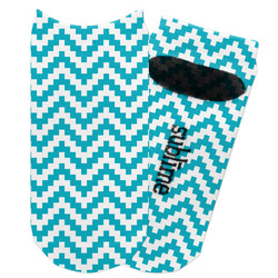 Pixelated Chevron Adult Ankle Socks (Personalized)