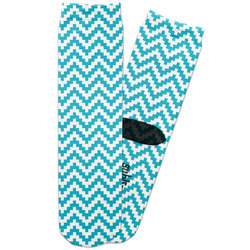 Pixelated Chevron Adult Crew Socks (Personalized)