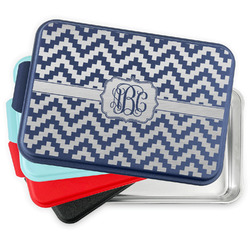 Pixelated Chevron Aluminum Baking Pan with Lid (Personalized)