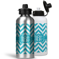 Pixelated Chevron Water Bottles- Aluminum (Personalized)