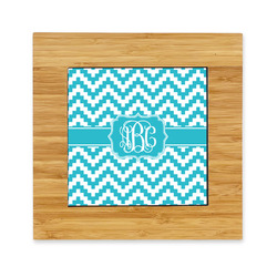 Pixelated Chevron Bamboo Trivet with Ceramic Tile Insert (Personalized)