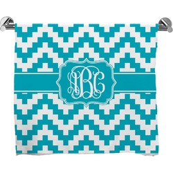 Pixelated Chevron Full Print Bath Towel (Personalized)