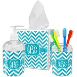 Pixelated Chevron Bathroom Accessories Set (Personalized)